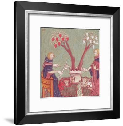 The Philosophers Will, from a Manuscript of Alchemy, 14th Century--Framed Giclee Print