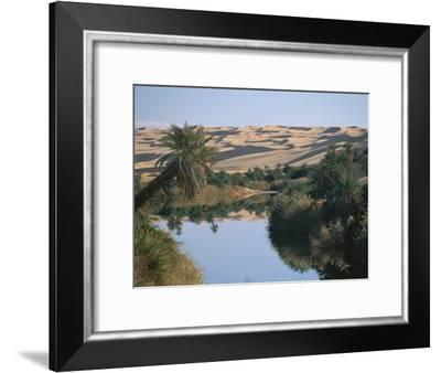 The Photographer Discovers an Oasis in the Middle of the Sahara Desert-Peter Carsten-Framed Photographic Print