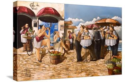 The Photographer-Ronald West-Stretched Canvas Print
