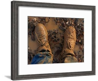 The Photographers Muddy Shoes--Framed Photographic Print