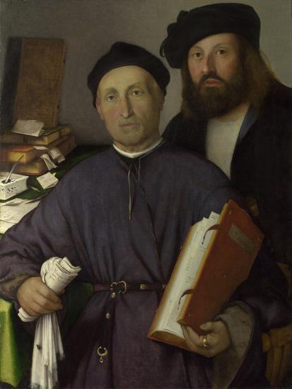 The Physician Giovanni Agostino Della Torre and His Son, Niccolò, Ca 1515-Lorenzo Lotto-Giclee Print