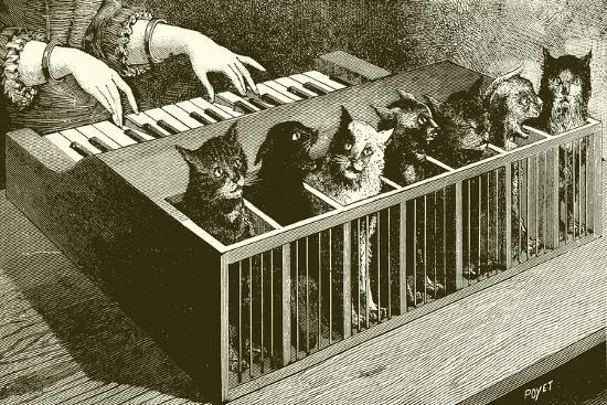 The Piano of Cats-English School-Giclee Print