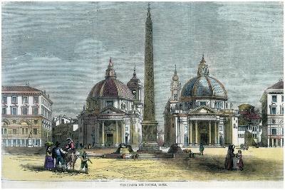 The Piazza Del Popolo, Rome, Italy, C1880--Giclee Print