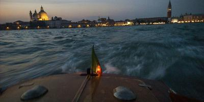 The Piazza San Marco from a Water Taxi on the Giudecca Canal-Stephen Alvarez-Photographic Print