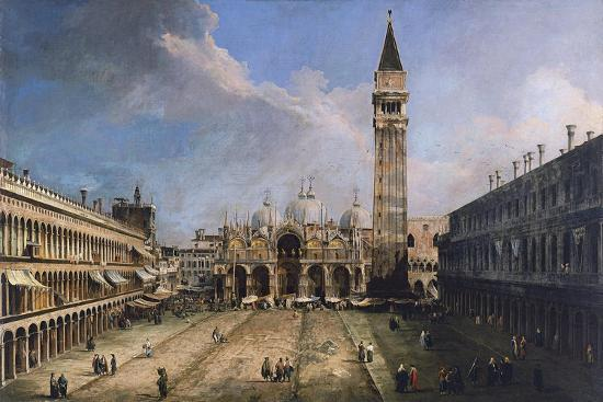 The Piazza San Marco in Venice, Ca 1723-1724-Canaletto-Giclee Print