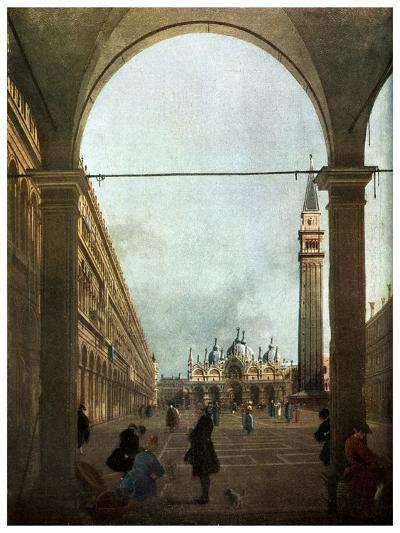 The Piazza, Venice, C1756-Canaletto-Giclee Print
