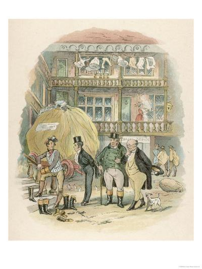 The Pickwick Papers: The First Appearance of Mr. Samuel Weller--Giclee Print