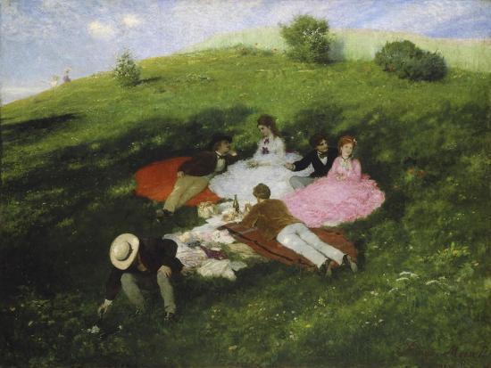 The Picnic, 1873-Paul von Szinyei-Merse-Giclee Print