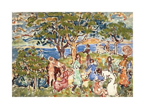 The Picnic, C.1912-15-Maurice Brazil Prendergast-Giclee Print