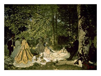 The Picnic-Claude Monet-Art Print