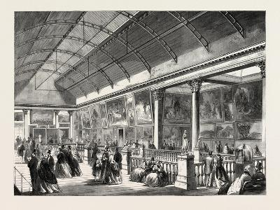 The Picture Gallery in Dublin International Exhibition, Ireland, 1865--Giclee Print