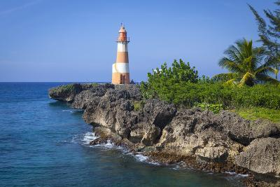 The Picturesque Folly Point Lighthouse, Jamaica-Doug Pearson-Photographic Print