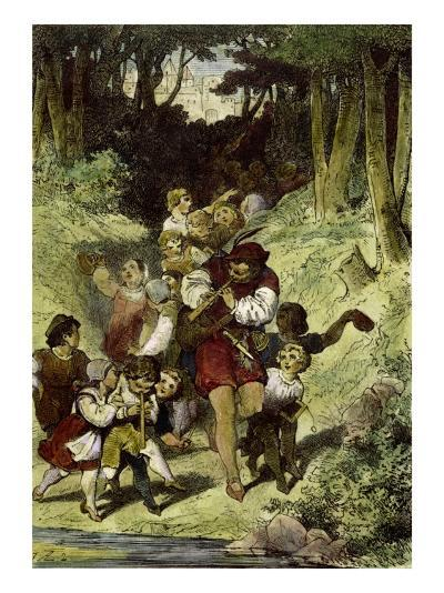 The Pied Piper of Hamelin-Clemens Brentano-Giclee Print