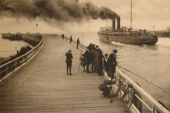 'The Pier and the entrance of the Mail-Steamer', c1928-Unknown-Photographic Print