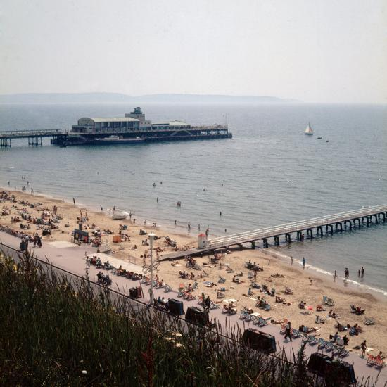 The Pier at Bournemouth 1971- Library-Photographic Print