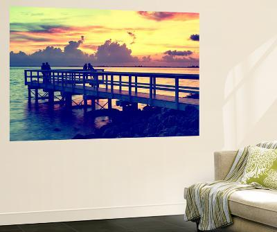 The Pier at Sunset Lovers-Philippe Hugonnard-Wall Mural