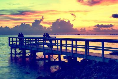 The Pier at Sunset Lovers-Philippe Hugonnard-Photographic Print