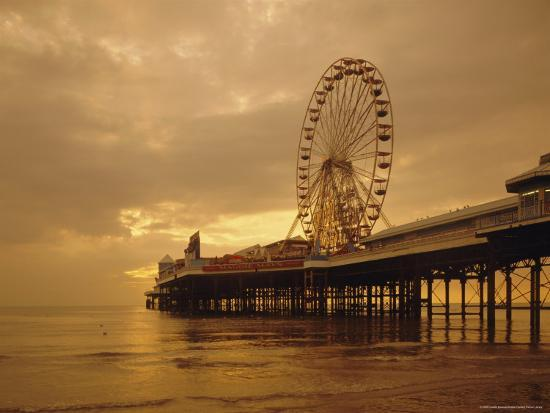 The Pier, Blackpool, Lancashire, England, UK, Europe-Charles Bowman-Photographic Print