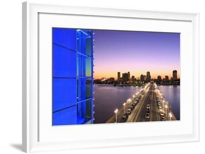 The Pier in St. Petersburg Skyline, Tampa, Florida, United States of America, North America-Richard Cummins-Framed Photographic Print