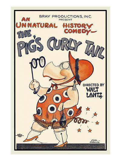 The Pig's Curly Tail-Walter Lantz-Art Print
