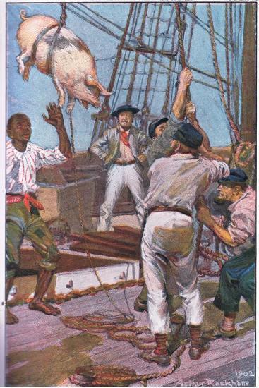 The Pig Squealed Like the 'Crack of Doom'-Arthur Rackham-Giclee Print