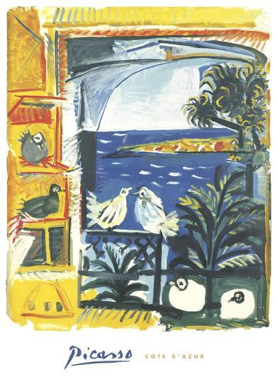 The Pigeons, 1957-Pablo Picasso-Art Print