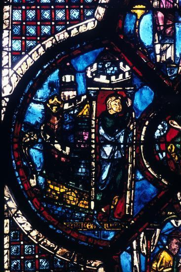 The Pilgrim Leaves Jerusalem for Jericho, Stained Glass, Chartres Cathedral, France, 1205-1215--Photographic Print