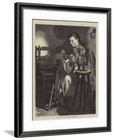 The Pillow-Lace Maker--Framed Giclee Print