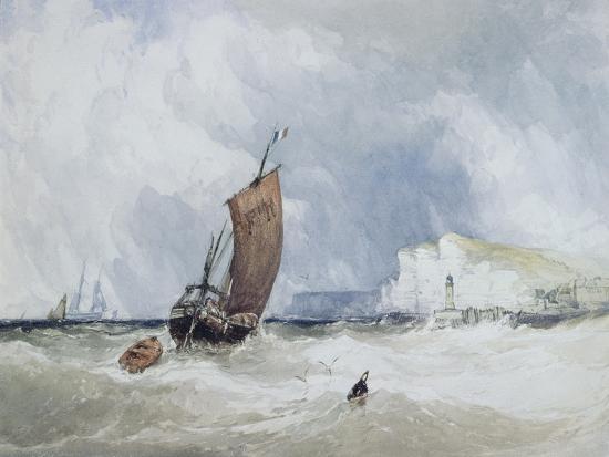 The Pilot Boat Off Fecamp, Normandy-Charles Burton Barber-Giclee Print