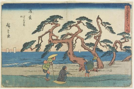 The Pine Field in Hamamatsu, 1841-1842-Utagawa Hiroshige-Giclee Print