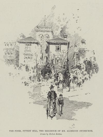 The Pines, Putney Hill, the Residence of Mr Algernon Swinburne-Herbert Railton-Giclee Print