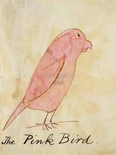The Pink Bird-Edward Lear-Giclee Print