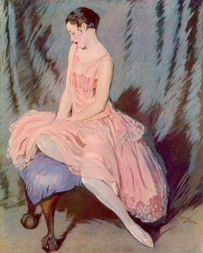 The Pink Dress-Lewis Baumer-Giclee Print