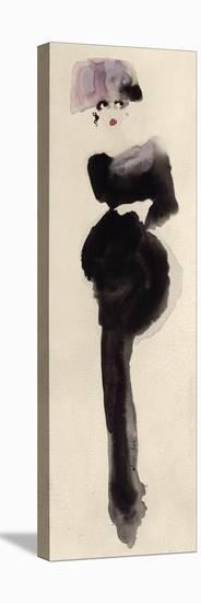 The Pink Hat-Bridget Davies-Stretched Canvas Print