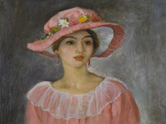 The Pink Hat-Henri Lebasque-Giclee Print