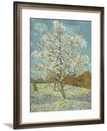 The Pink Peach Tree, 1888-Vincent van Gogh-Framed Giclee Print