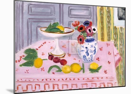 The Pink Tablecloth, c.1925-Henri Matisse-Mounted Art Print