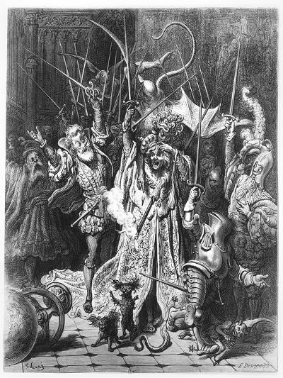 The Pinochle Player from 'Gargantua and Pantagruel', by François Rabelais-Gustave Dore-Giclee Print