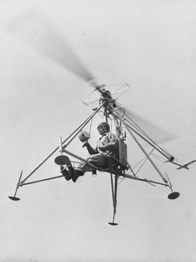 "The ""Pinwhell', Is a 1 Man Helicopter-Allan Grant-Photographic Print"