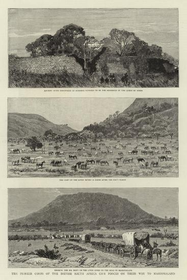 The Pioneer Corps of the British South Africa Co's Forces on their Way to Mashonaland--Giclee Print
