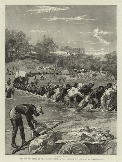 The Pioneer Corps of the British South Africa Company on the Way to Mashonaland--Giclee Print