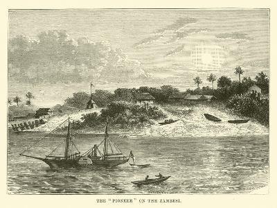 "The ""Pioneer"" on the Zambesi--Giclee Print"