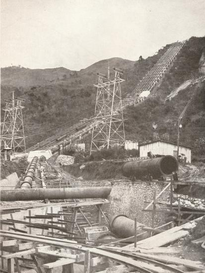'The Pipes at Riberao das Lages: Rio Light and Power Works', 1914-Unknown-Photographic Print