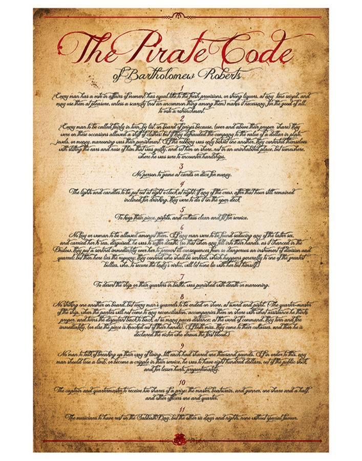 The Pirate Code Art Print by | Art com