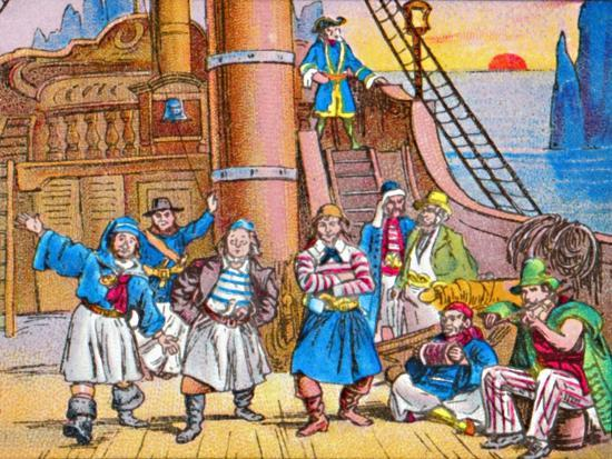 'The pirates at home', c1905-Unknown-Giclee Print