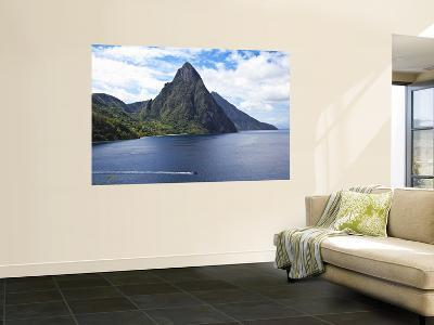 The Pitons on Southwestern Coast-Angus Oborn-Wall Mural