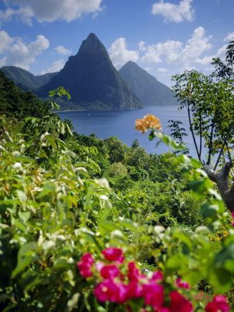 The Pitons, St. Lucia, West Indies Photographic Print by ...
