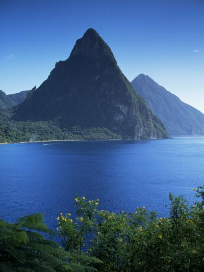The Pitons, St. Lucia, Windward Islands, West Indies, Caribbean, Central America-John Miller-Photographic Print