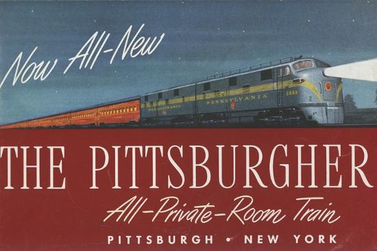 The Pittsburgher', Advertisement for the Pennsylvania Railroad Company, C.1948--Premium Giclee Print