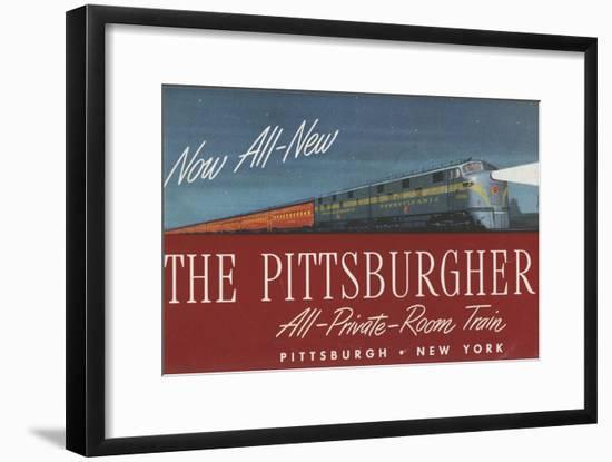 The Pittsburgher', Advertisement for the Pennsylvania Railroad Company, C.1948-null-Framed Giclee Print